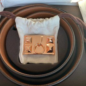 Pre Loved Authentic HERMES belt strap. NO Buckle!